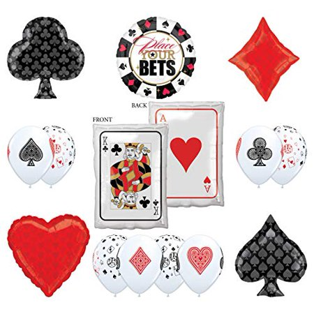 Mayflower Products Casino Night Party Supplies 14pc Ace King Place Your Bet Balloon Bouquet Decorations](Casino Royale Decorations)