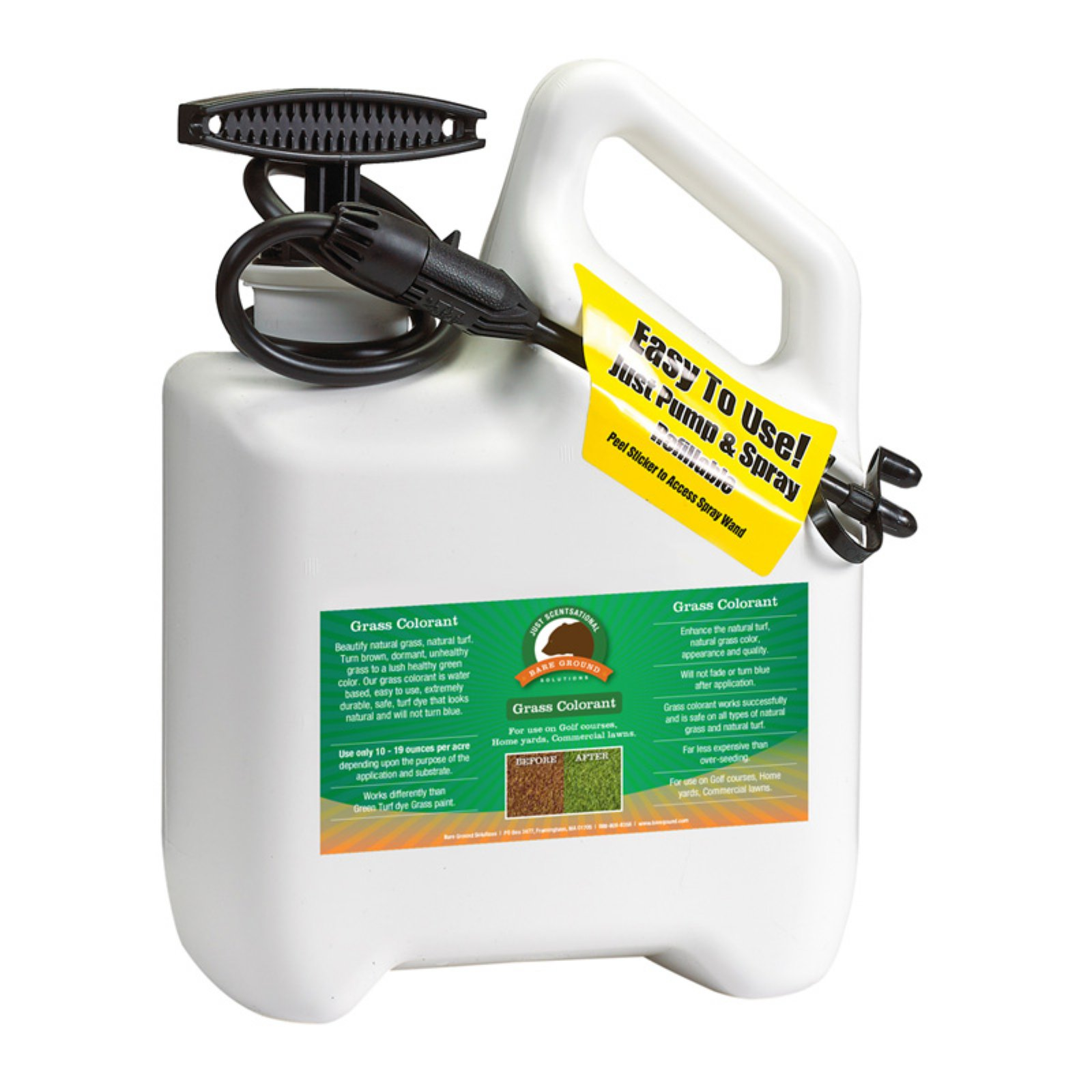 Just Scentsational Green Up Grass Colorant with Pump Sprayer by Bare Ground Systems