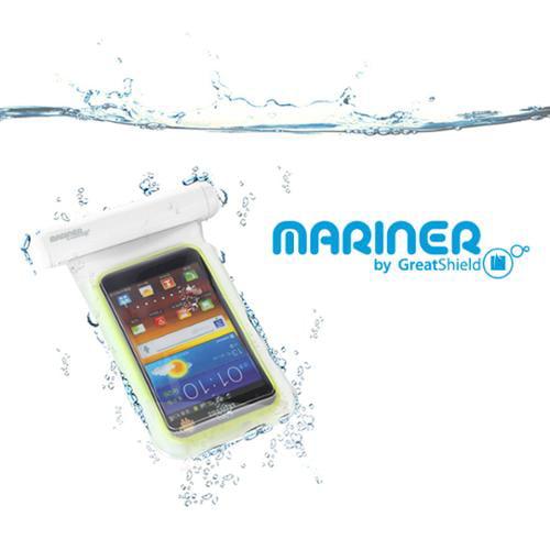 GreatShield Mariner (IP-68 Certified) 100% Waterproof Pouch Case Fits Samsung Galaxy S6/S6 Edge S5/S4/S3,Note 3- White