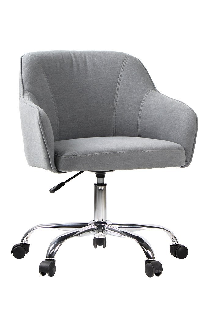 VIVA OFFICE Fabric Swivel Task Chair With Arms, Grey
