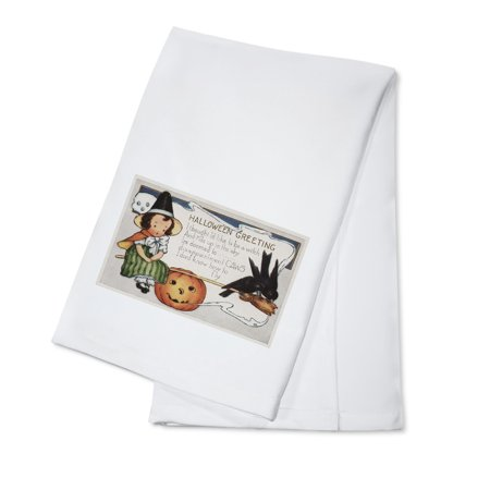 Halloween Greeting - Crows (100% Cotton Kitchen Towel) - Easy Potluck Dishes Halloween