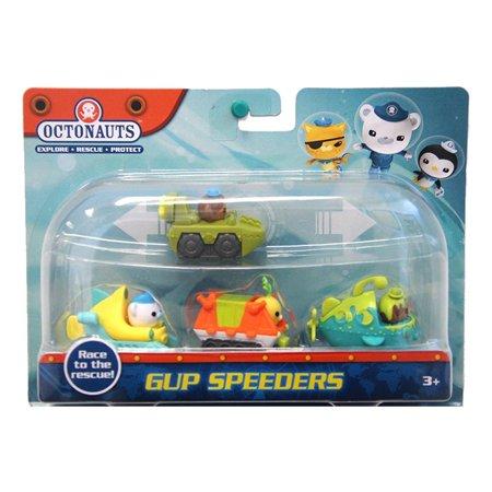 Octonauts Gup Speeders 4-Pack Gup-A Gup-K Gup-T Gup-U Figures