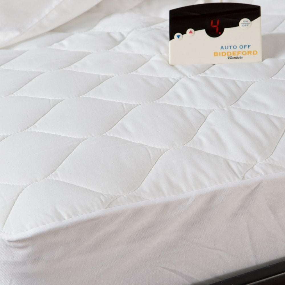 Biddeford Quilted Electric Heated Mattress Pad Twin Full ...