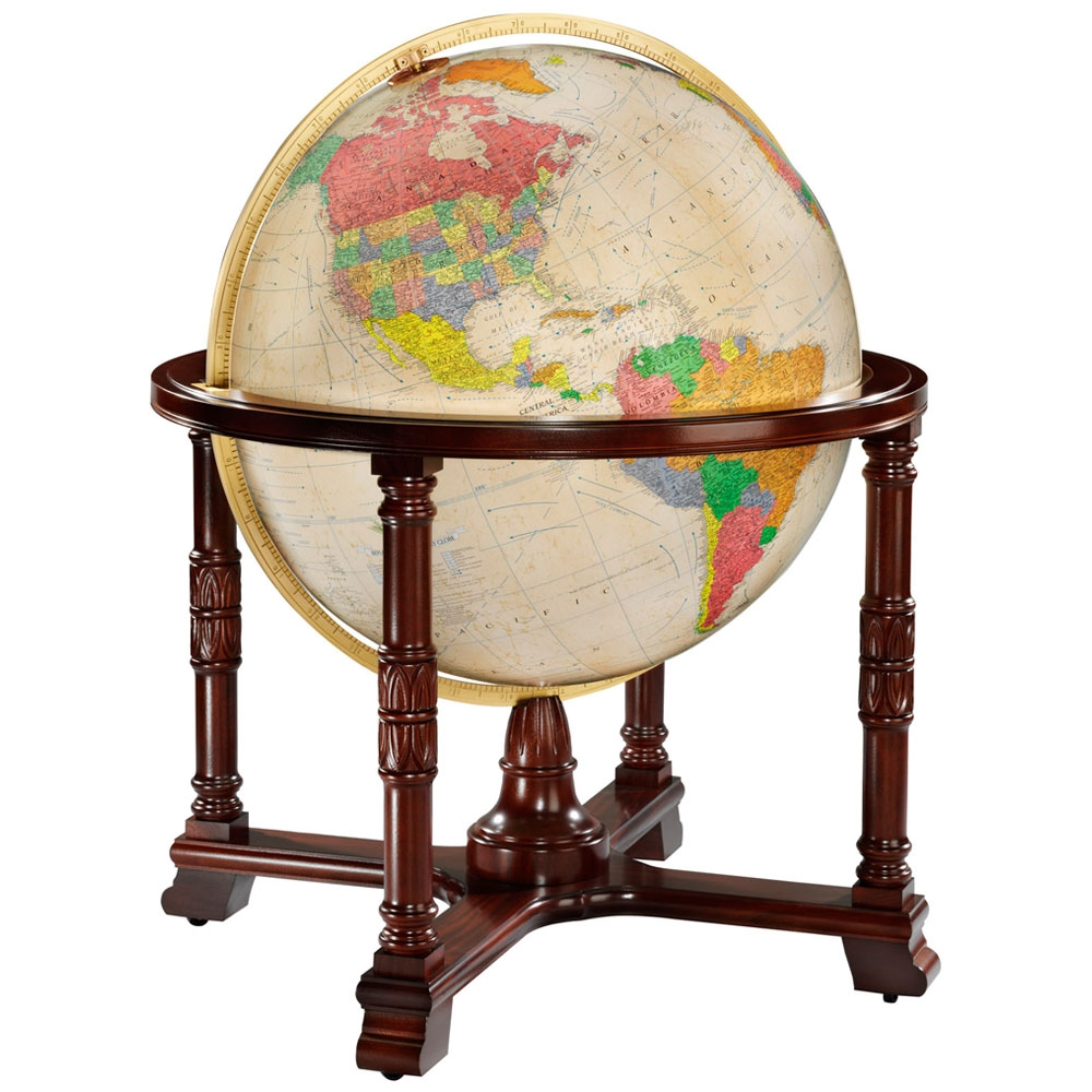 Diplomat Globe Antique 32-inch Illuminated
