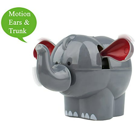 Solar Power Motion Happy Elephant Figurine Toy Light Activated Car Office Home Cubicle Holiday Decor Cute Novelty Gift Suncatcher Elephant
