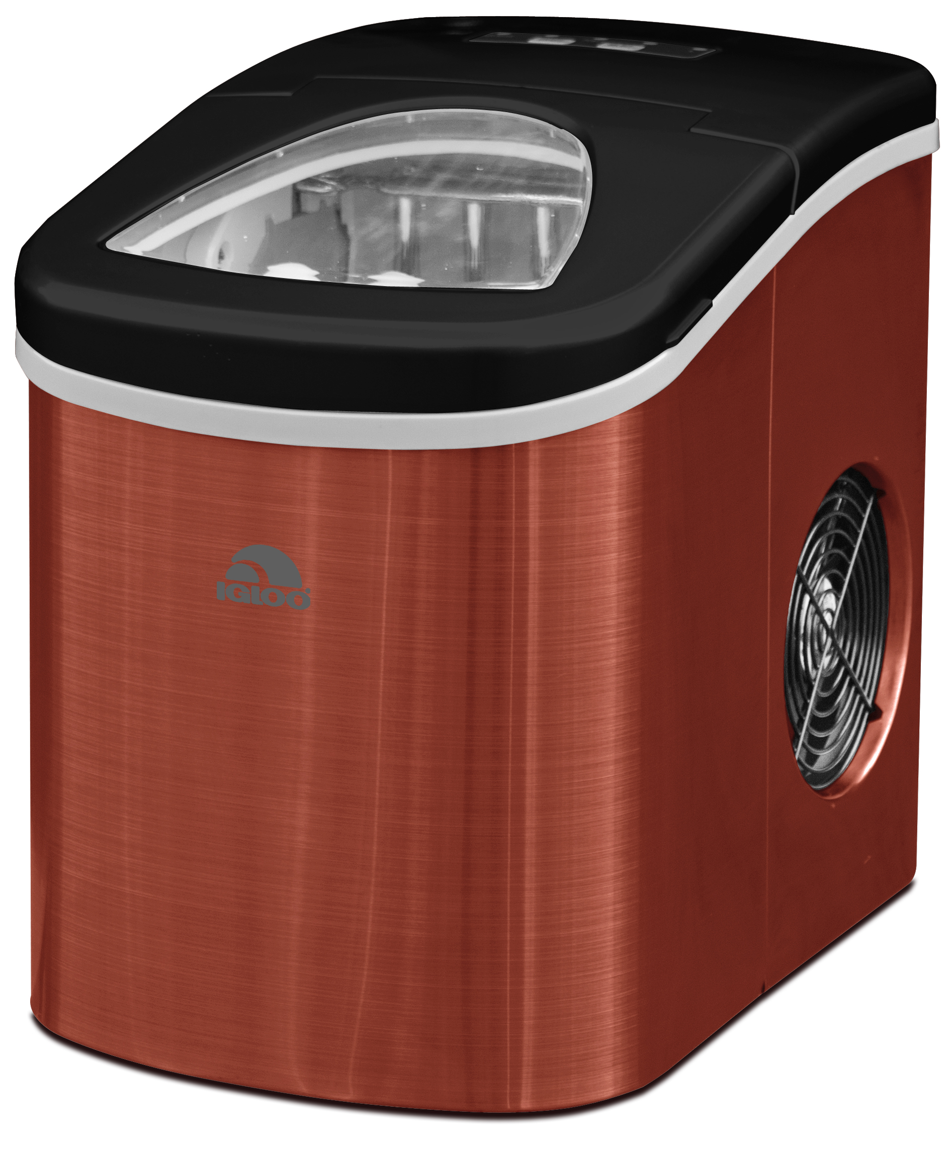 Igloo Ice Maker Red Stainless Steel by CURTIS INTERNATIONAL LTD