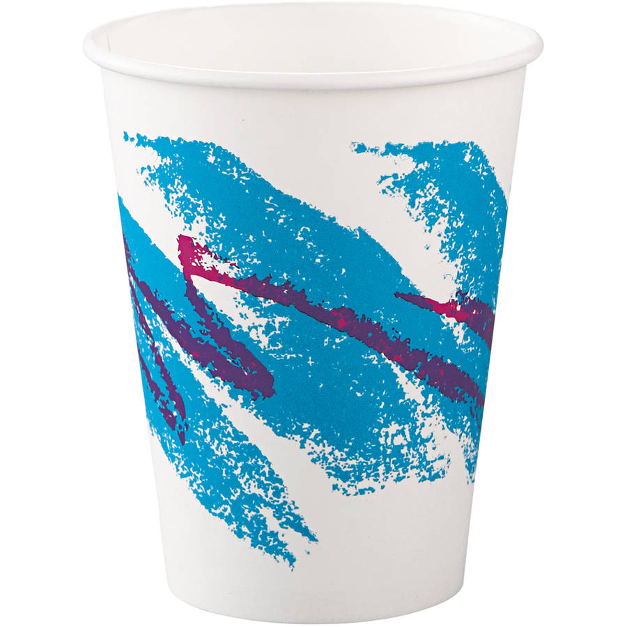 SOLO Cup Company Jazz 12 oz. Polycoated Paper Hot Cups, 50 count, (Pack of 20)