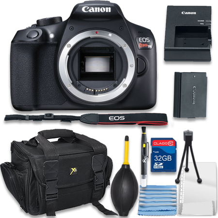 Canon Eos Rebel T6 Digital Slr Camera Body Only Bundle Includes Camera 32gb Memory Card Bag Cleaning Kit