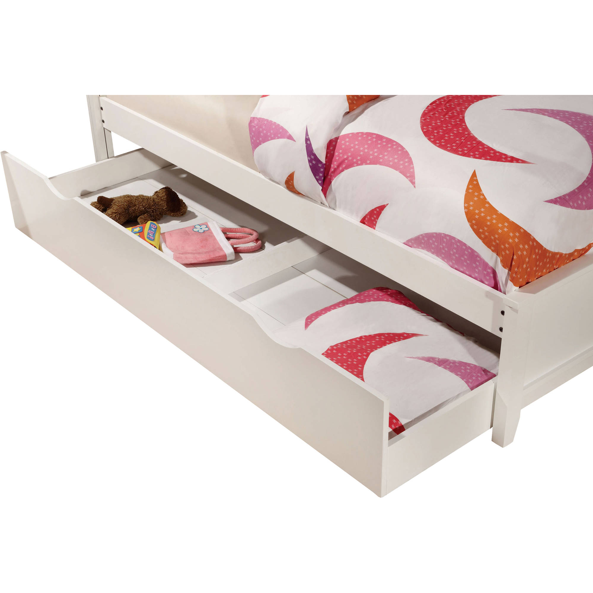 Mullan Twin Trundle Bed, White by