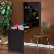 Costway Wall Mounted Table Convertible Desk Fold Out Space Saver Chalkboard coffee