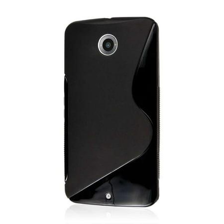 huge discount 3b5bf 20346 S Line Rubber Gel Skin Case Cover for Motorola Nexus 6 - Black ...