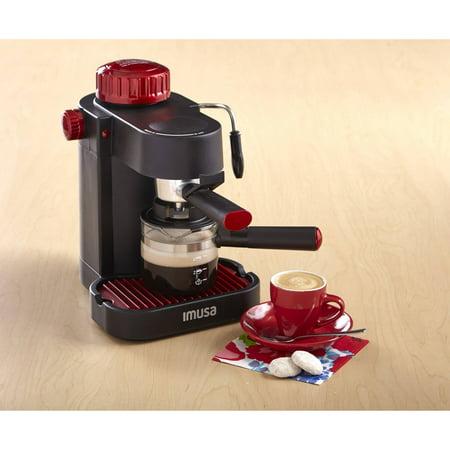 4-Cup Espresso/Cappuccino Maker, Red - Best Espresso Machines