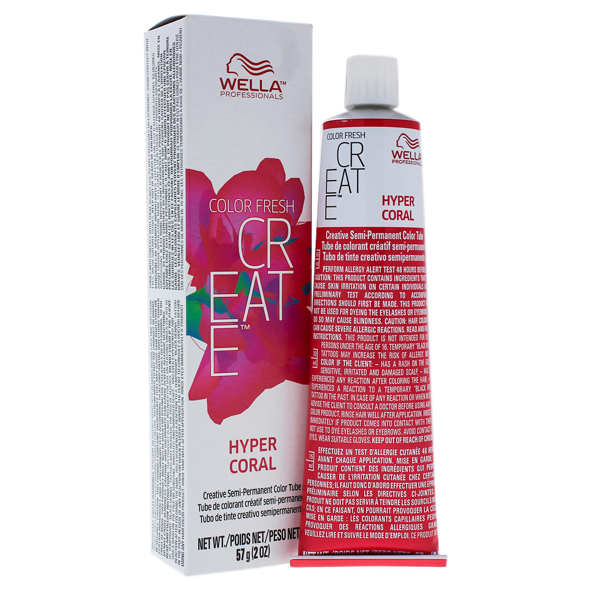 Color Fresh Create Semi-Permanent Color - Hyper Coral by Wella for Women - 2 oz Hair Color