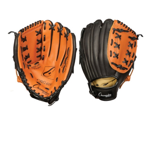 Champion Sports Baseball Softball Fielders Glove for Right Hand, Leather 11'' by Champion Sports
