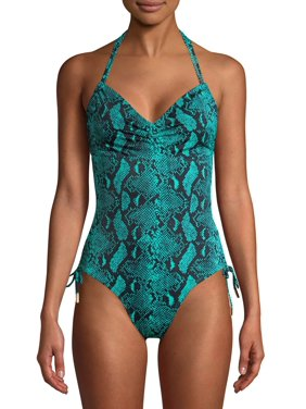 No Boundaries Juniors' Serpentine One-Piece Swimsuit