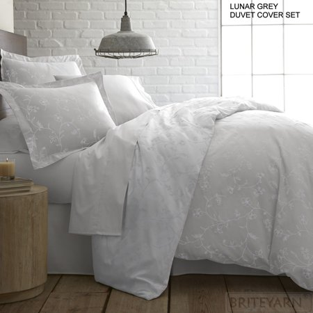 - Shabby Chic Floral Printed 100-percent Cotton Sateen 3-piece Duvet Cover Set by Southshore Fine Linens