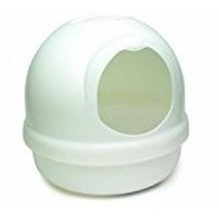 Petmate Booda Dome Cat Litter Pan, Pearl Petmate High Back Litter Pan