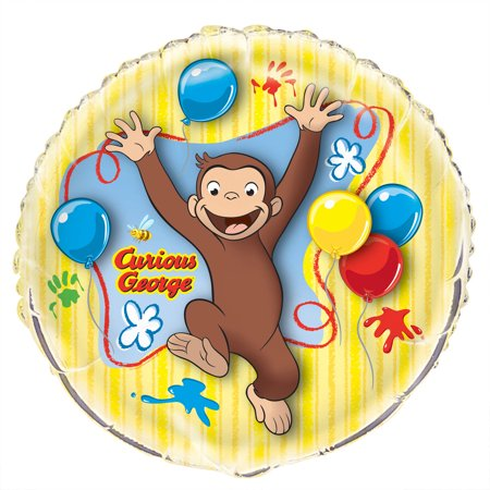 Giant Foil Curious George Balloon, 34 in, 1ct - Curious George Party Stuff