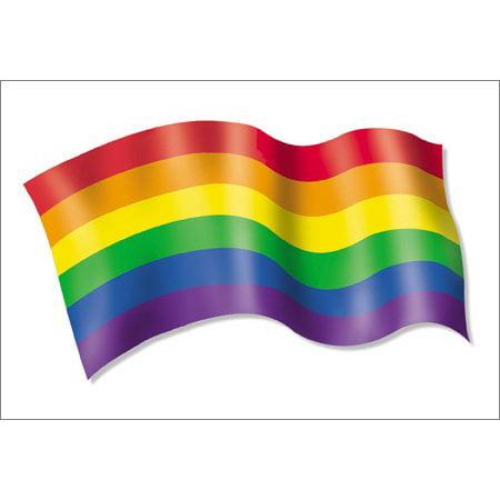 2 X Nsi   Pride Rainbow Flag Postcards   6 X 4 Inches