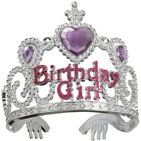 Small Plastic Tiaras (Jeweled Plastic Birthday Girl)