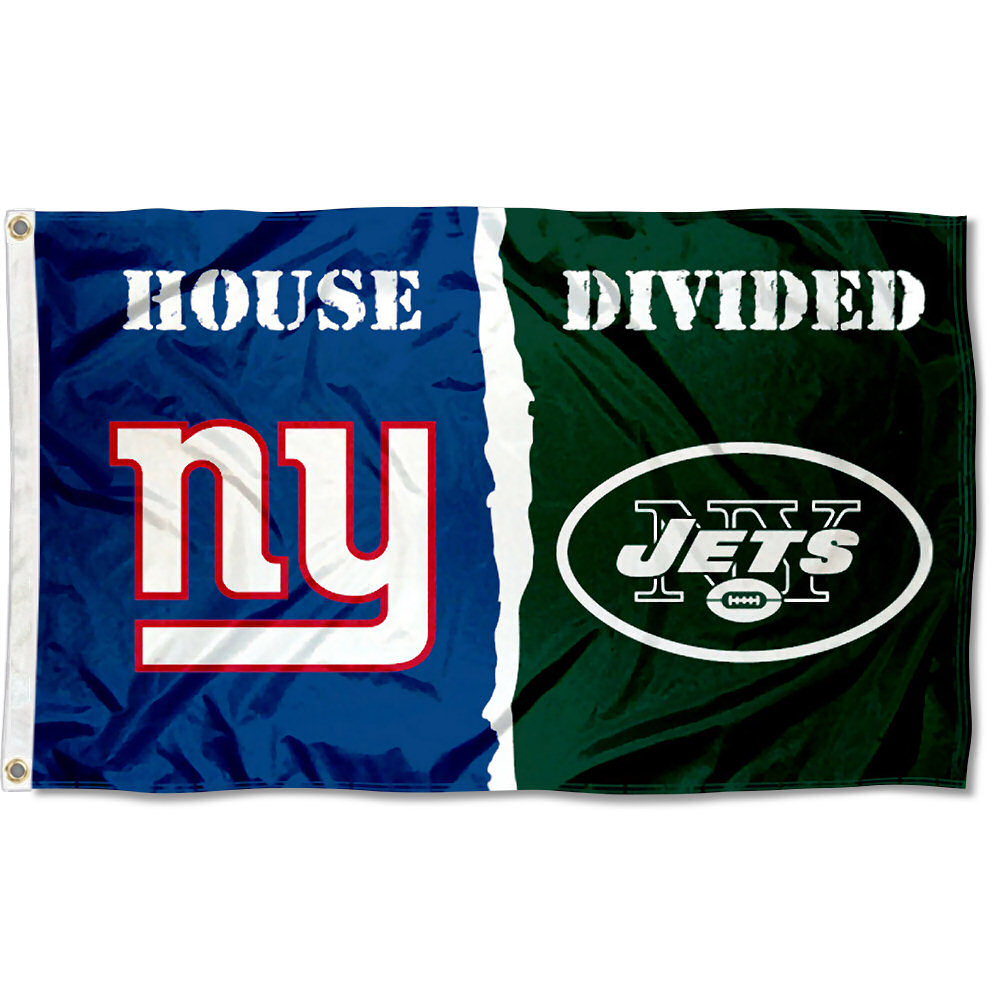 NFL New York Jets vs. New York Giants House Divided Flag