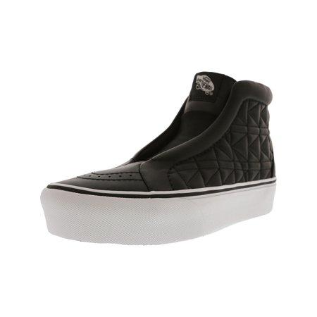 Vans Sk8 Hi White - Vans Sk8-Hi Laceless Platform Karl Lagerfeld Chain / K Quilt High-Top Leather Fashion Sneaker - 7.5M 6M
