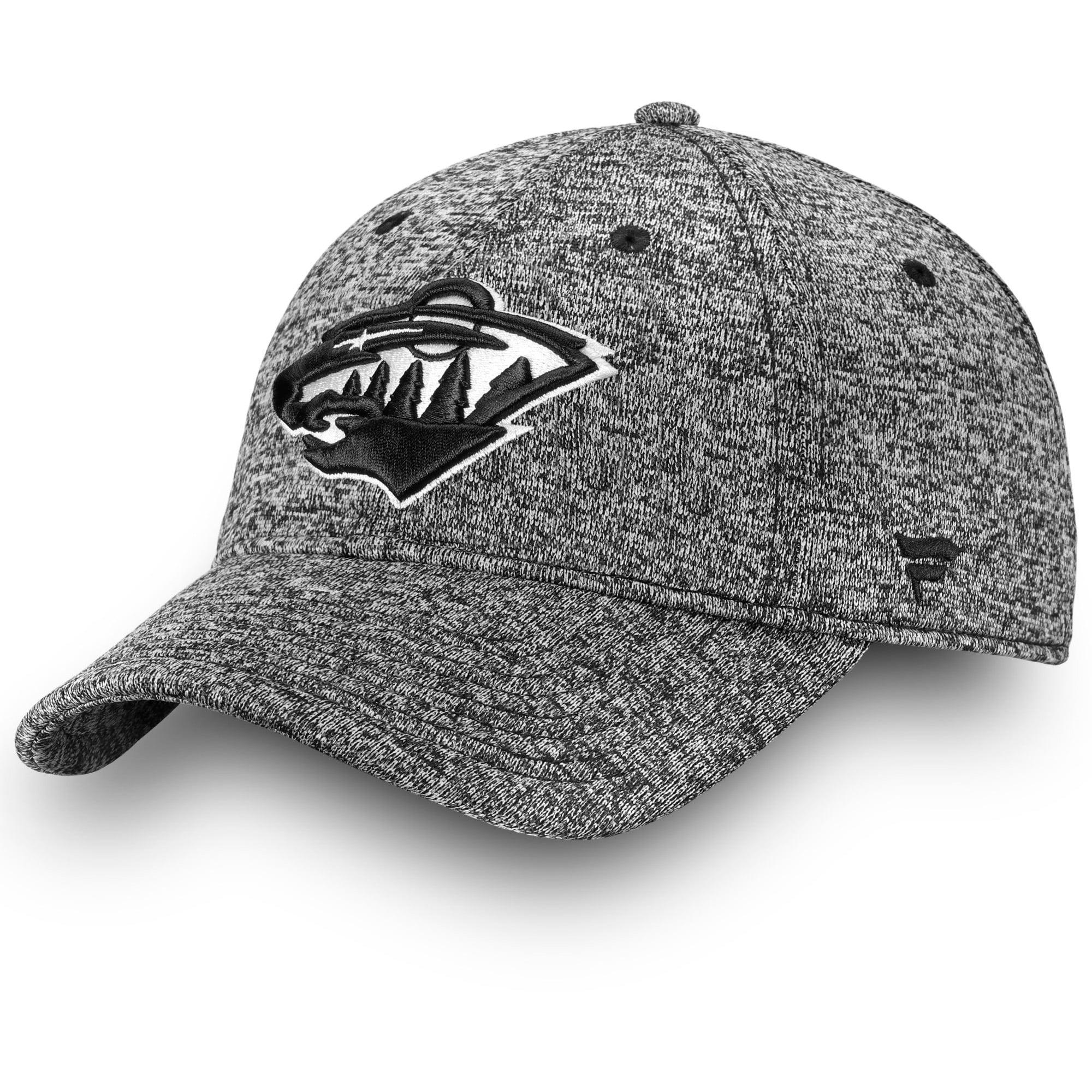 size 40 5f8e1 9e746 ... where can i buy minnesota wild fanatics branded black white fundamental  adjustable hat heathered black osfa