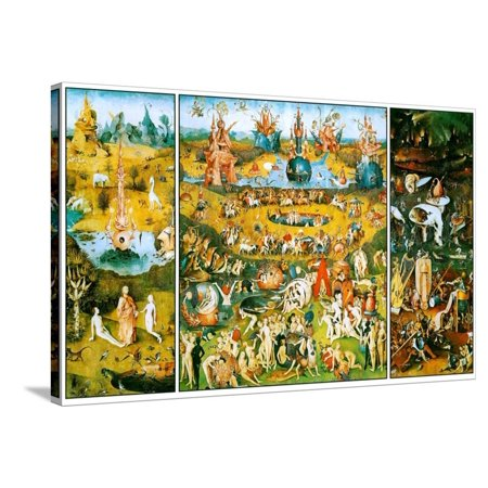 Hieronymus Bosch Garden of Earthly Delights Stretched Canvas Print Wall (Hieronymus Bosch Garden Of Earthly Delights Canvas)