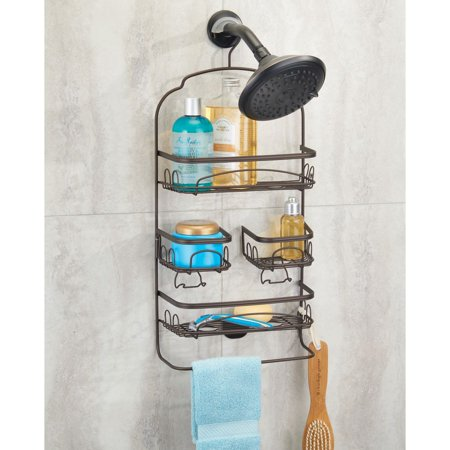 Better Homes & Gardens Bryn Swivel Shower Caddy, Bronze (Shower Caddy Bronze Over The Door)