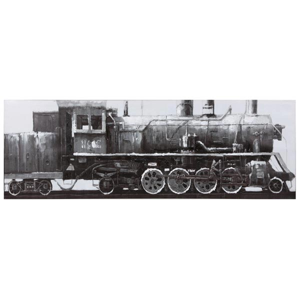 Steam Train Locomotive Train Picture On Painted Canvas