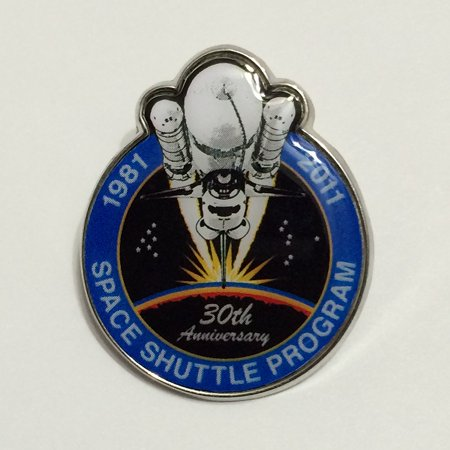New Nasa Final Space Shuttle Mission Pin Contains Metal Flown on a Space Shuttle Mission Limited Edition, SPACE SHUTTLE 30th ANNIVERSARY PIN.., By Winco Space Shuttle Mission Pin