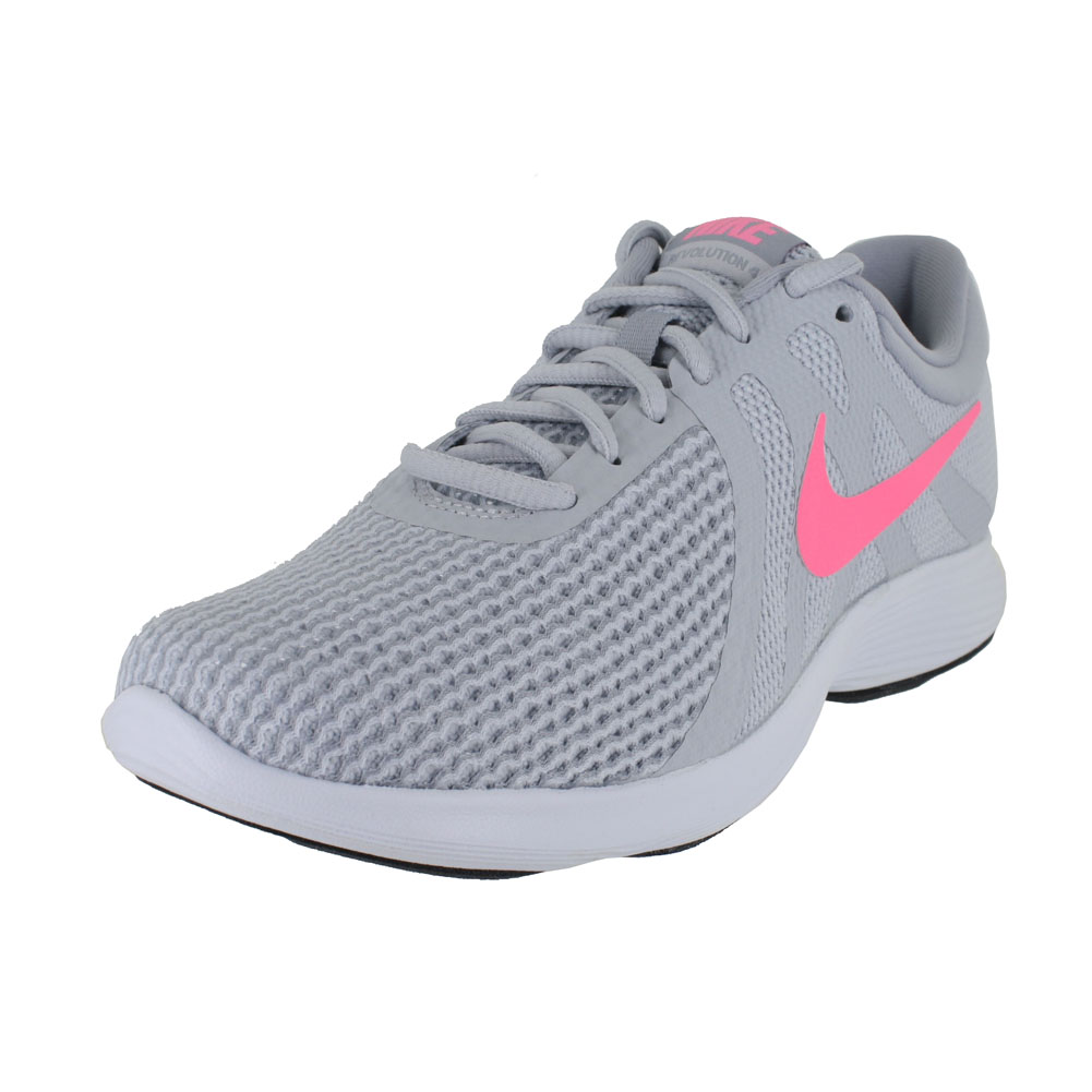 NIKE WOMEN NIKE REVOLUTION 4 WIDE PLANTINUM SUNSET WOLF GREY SIZE 5.5