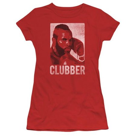 Trevco Rocky-Clubber Lang Short Sleeve Junior Sheer Tee, Red - Medium