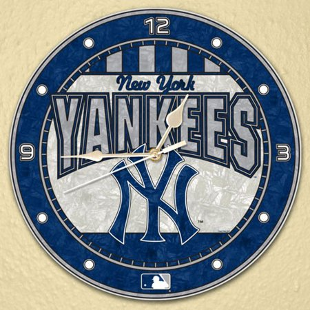 "New York Yankees 12"" Art-Glass Wall Clock - No Size"