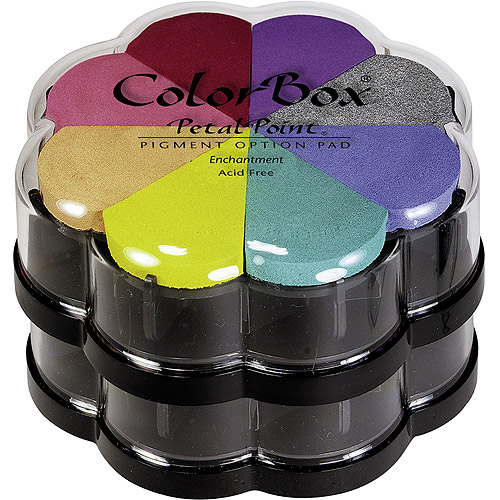 ColorBox Pigment Petal Point Ink Pad 8 Colors-Metalextra Brocade