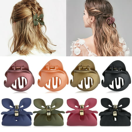 8PCS Hair Claw clips, Aniwon Cute Rabbit Ears Vintage Small Non-slip Jaw Hair Clamps Hair Accessories for Women