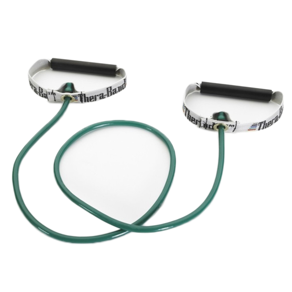 "Thera-Band Tubing Hard PVC Handles 48"" Green/Heavy"