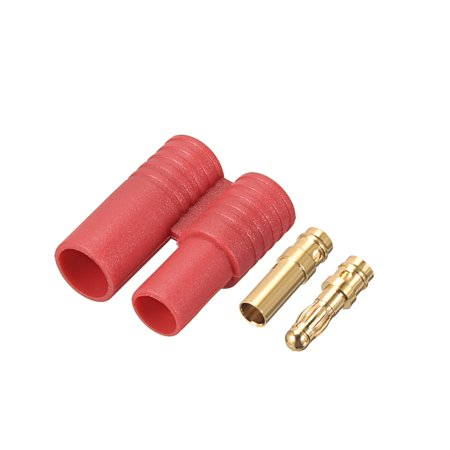 3.5mm Bullet Connector Gold Plated Banana Plugs Amass Original Factory 3Sets