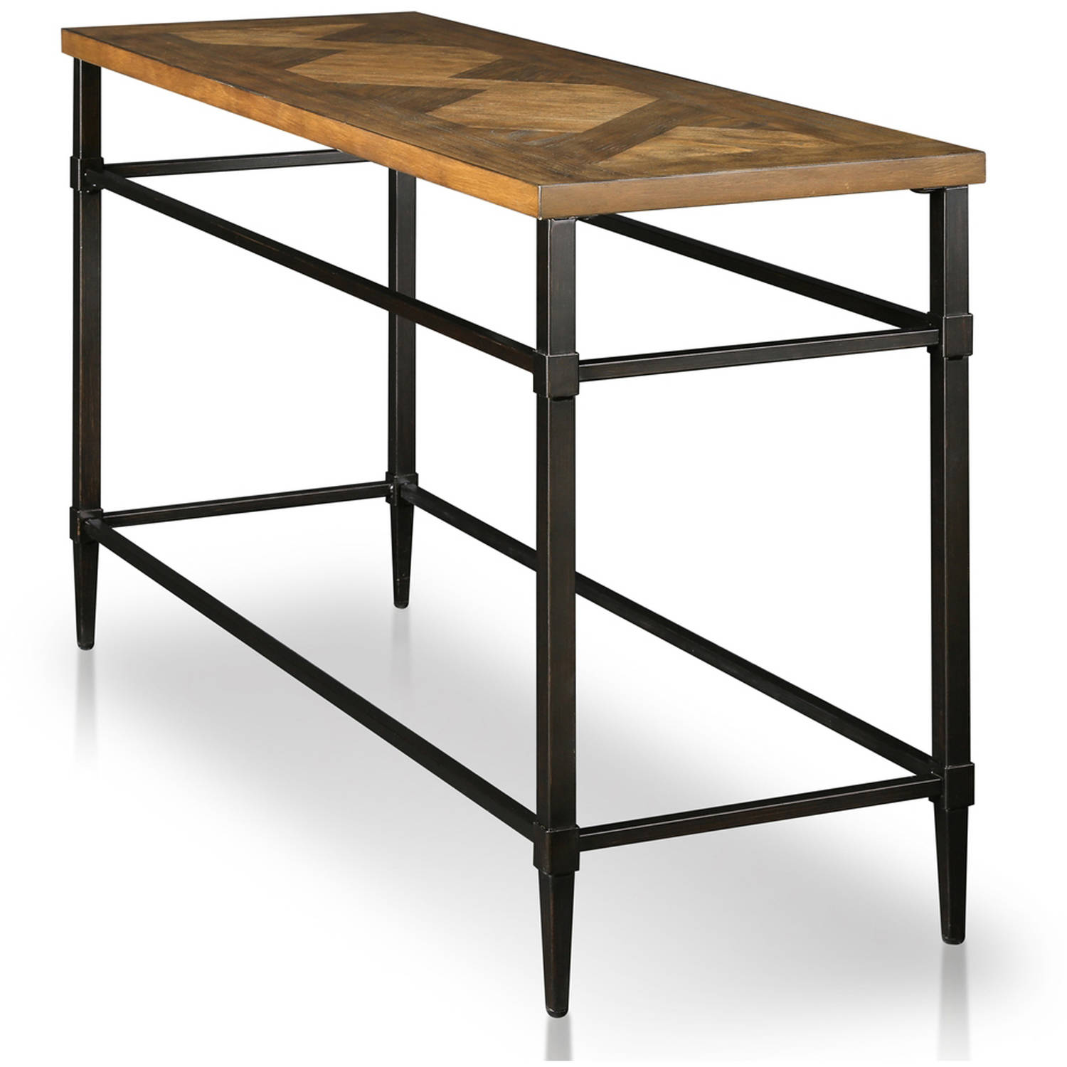 Marvelous Furniture Of America Rhett Industrial Metal Frame Sofa Table Light Oak Gmtry Best Dining Table And Chair Ideas Images Gmtryco