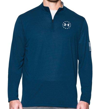 8bf4152b Under Armour - Under Armour Men's Freedom Threadborne™ ¼ Zip Long Sleeve  Shirt Blackout Navy/White Small - Walmart.com