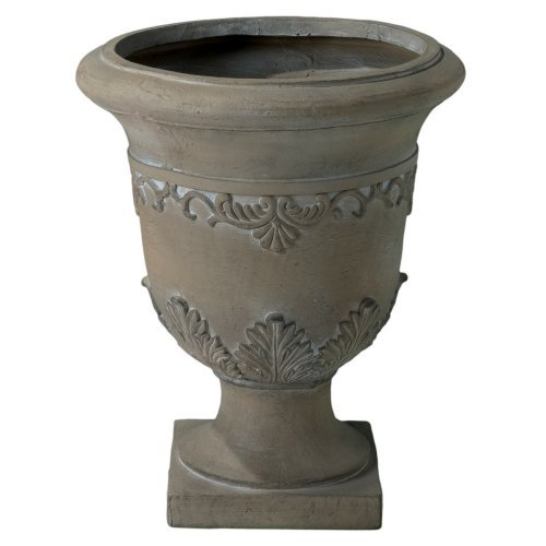 Athenian 20 in. Antique Green Urn Planter