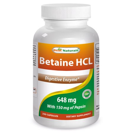 - Best Naturals Betaine HCL 648 mg 250 Capsules