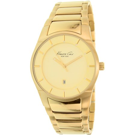 Kenneth Cole Mens New York 10027726 Gold Stainless Steel Quartz Watch
