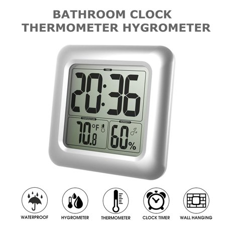 Bathroom Shower Timer Watch Large Digital Waterproof Suction Cups