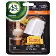 Air Wick Scented Oil Air Freshener Starter Kit, National Park Collection, Hawaii Scent, 1 Count