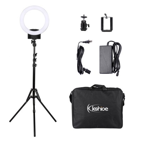 2019 Upgraded Ring Light,12inch Adjustable Bi-ColorTemperature 2500K-6000K with Stand, YouTube Makeup Dimmable Video LED Light Kit, for Video Shooting, Portrait, Vlog, Selfie, (Best Light Stand 2019)