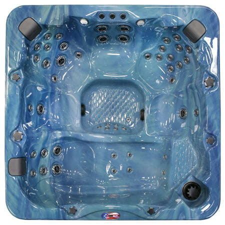 6-Person 56-Jet Lounger Spa with Bluetooth Stereo System, Subwoofer and Backlit LED Waterfall