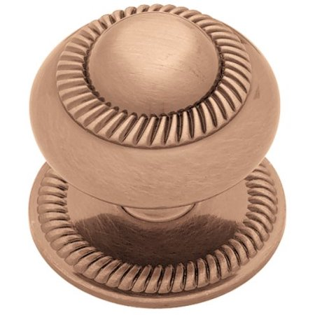 Copper Knob Backplates ((5 Pack) 37mm Roped Knob w/ Backplate - Brushed Red)