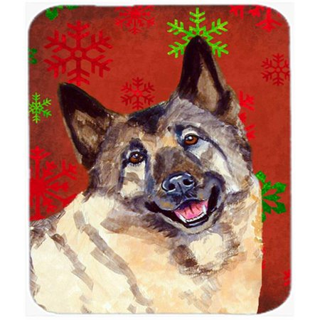 Carolines Treasures LH9353MP Norwegian Elkhound Snowflakes Holiday Christmas Mouse Pad, Hot Pad Or Trivet - 7.75 x 9.25 In. - image 1 de 1