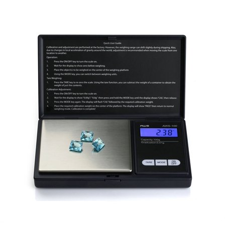 American Weigh Scales AWS-100 Digital Pocket Scale Black